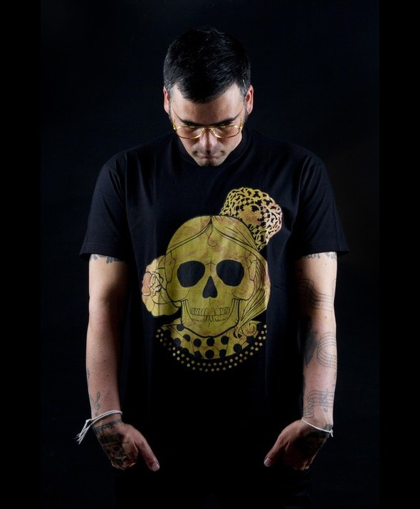 Kusama Tshirt Flamenco Golden Skull