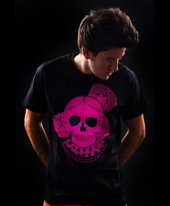 Camiseta Kusama Calavera Flamenca Rosa
