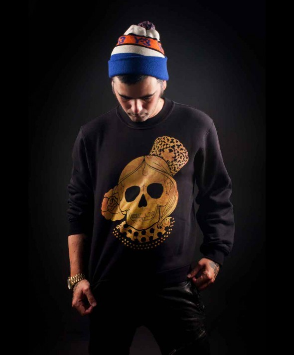 Kusama Golden Skull Jumper