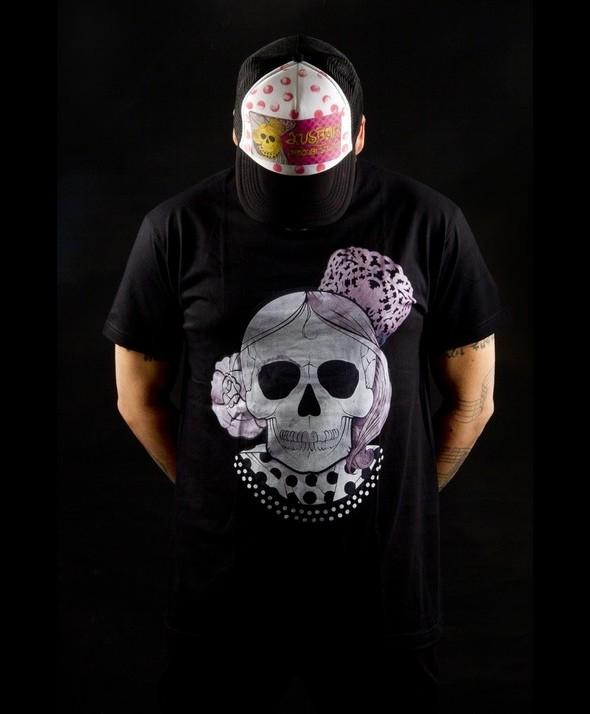 Kusama Tshirt Flamenco White Skull