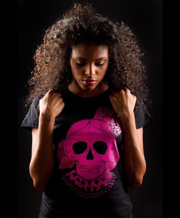 Pink Flamenco Skull Kusama Tshirt